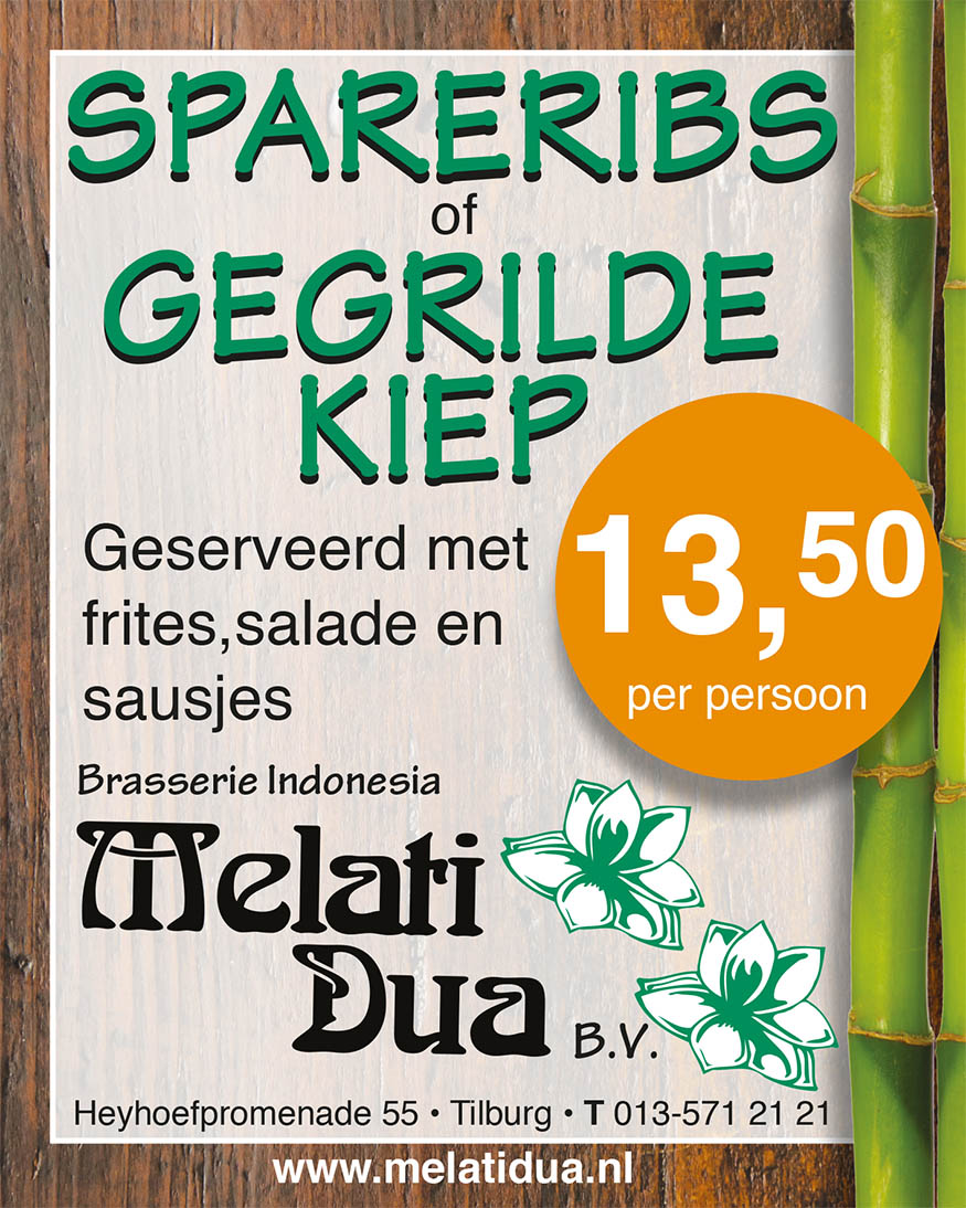 Melati Dua onbeperkt spare-ribs en gegrilde kiep